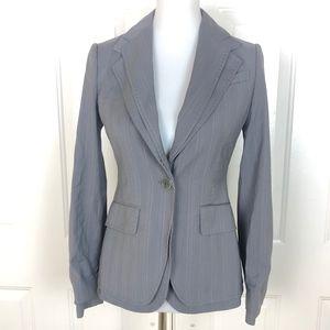 BCBGMaxazria Women's Gray Single Button Blazer